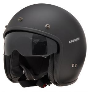 Otwarty kask motocyklowy Cassida Oxygen czarny matowy - II. jakość