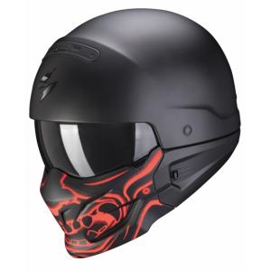 Kask motocyklowy Scorpion EXO-COMBAT EVO Samurai czarno-czerwony