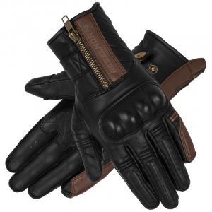Rękawice motocyklowe Rebelhorn Hunter czarno-brązowe