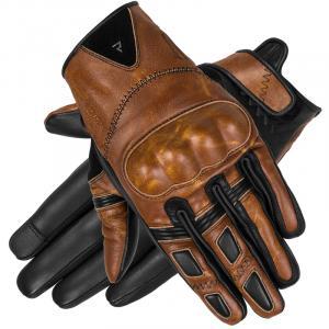 Rękawice motocyklowe Rebelhorn Thug II jasno brązowe