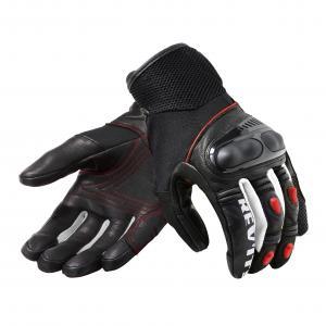 Rękawice motocyklowe Revit Metric czarno-fluo czerwone