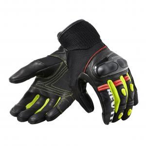 Rękawice motocyklowe Revit Metric czarno-fluo żółte