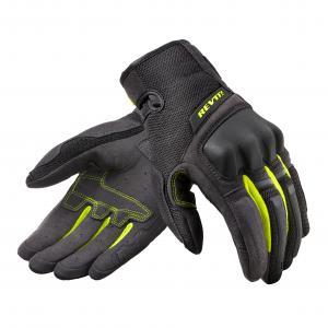 Rękawice motocyklowe Revit Volcano czarno-fluo żółte