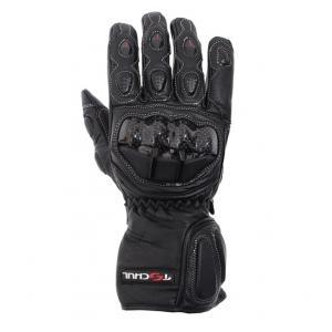 Rękawice motocyklowe Tschul 230 czarne - II. jakość