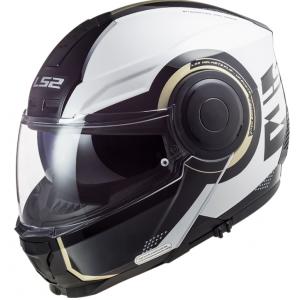 Szczękowy kask motocyklowy LS2 FF902 Scope Arch biało-czarny