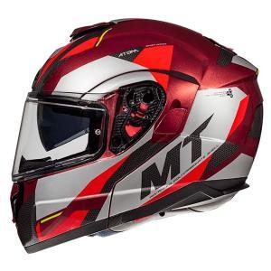 Szczękowy kask motocyklowy MT Atom SV TRANSCEND F5 czerwony - II. jakość
