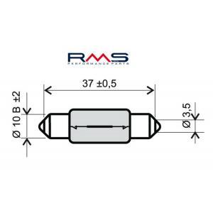 Bulb RMS 246510165 12V 10W, T11X39 S8.5 white