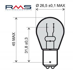Bulb RMS 246510365 12V 21/5W, BAY15D white