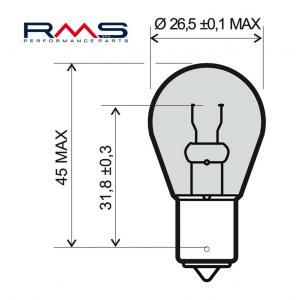 Bulb RMS 246510195 12V 21W , P21W BA15S white