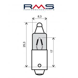 Bulb RMS 246510025 12V 23W, 180° (10 pieces)
