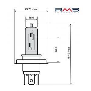 Bulb RMS 246510185 12V 35/35W, HS1 white