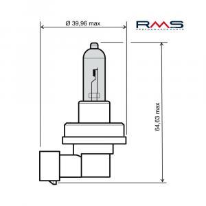 Bulb RMS 246510075 12V 35W, H8 white