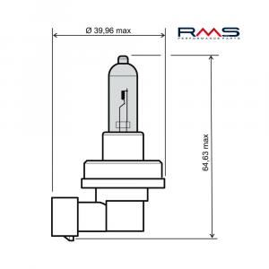 Bulb RMS 246510070 12V 35W, H8 blue