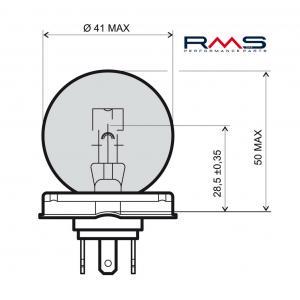Bulb RMS 246510105 12V 45/40W, P45T white