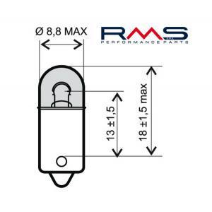 Bulb RMS 246510415 12V 4W, BA9S white