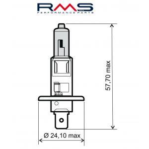 Bulb RMS 246510030 12V 55W, H1 blue
