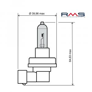 Bulb RMS 246510085 12V 55W, H11 white