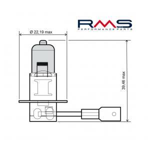 Bulb RMS 246510040 12V 55W, H3 blue