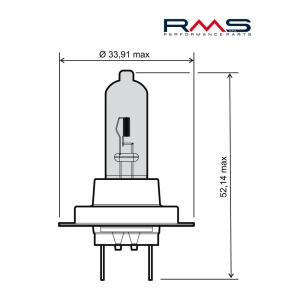 Bulb RMS 246510115 12V 55W, H7 white