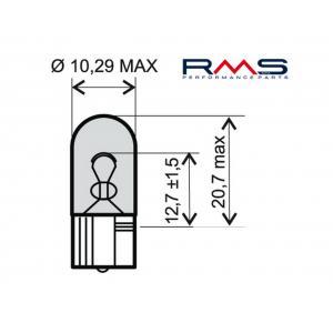 Bulb RMS 246510285 12V 5W, W2.1X9.5D white