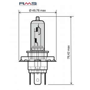 Bulb RMS 246510050 12V 60/55W, H4 blue