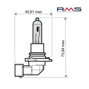 Bulb RMS 246510095 12V 65W, HB3 white