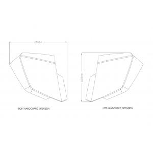 Handguards PUIG EXTENSION 20436W clear
