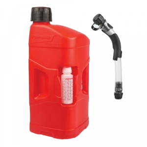 Utility can POLISPORT PROOCTANE 20 l with standard cap + 250 ml mixer + hose clear red