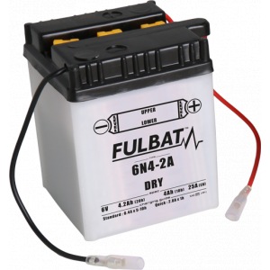 Conventional battery (incl.acid pack) FULBAT 6N4-2A Acid pack included