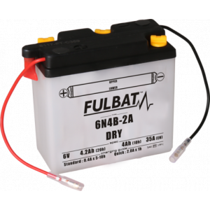 Conventional battery (incl.acid pack) FULBAT 6N4B-2A Acid pack included
