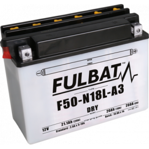 Conventional battery (incl.acid pack) FULBAT F50-N18L-A3 (Y50-N18L-A3) Acid pack included