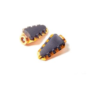 Footpegs without adapters PUIG TRAIL 7319O gold with rubber
