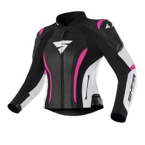 Damska kurtka na motocykl Shima Miura 2.0 czarno-biało-rożowa