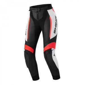 Dámské kalhoty na motorku Shima Miura 2.0 černo-bílo-fluo červené