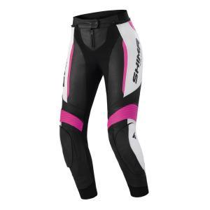 Damskie spodnie motocyklowe Shima Miura 2.0 czarno-biało-różowe