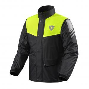 Moto bunda do deště Revit Nitric 3 H2O černo-fluo žlutá