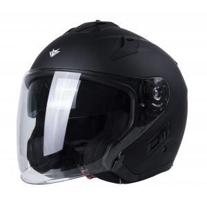 Otwarty kask motocyklowy RSA Active czarny mat
