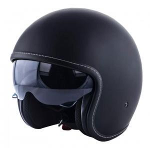 Otwarty kask motocyklowy  RSA Shadow Czarny mat
