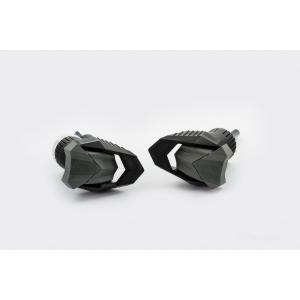 Frame sliders PUIG R19 20716N black with grey rubber