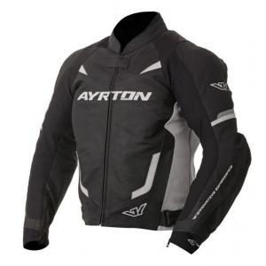 Skórzana kurtka motocyklowa Ayrton Evoline czarno-biała