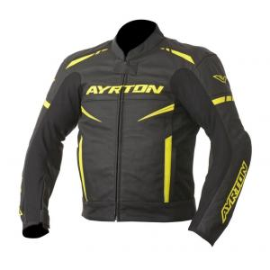Skórzana kurtka motocyklowa Ayrton Raptor czarno-fluo żółta wyprzedaż