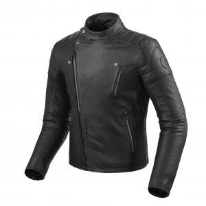 Skórzana kurtka motocyklowa Revit Vaughn czarna wyprzedaż