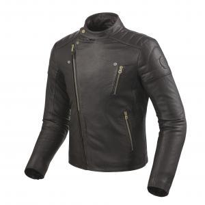 Skórzana kurtka motocyklowa Revit Vaughn ciemno brązowa wyprzedaż