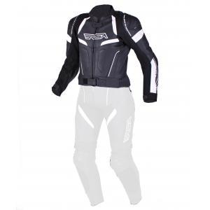 Damska skórzana kurtka motocyklowa RSA Speedway czarno-biała