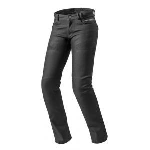 Damskie jeansy motocyklowe Revit Orlando H2O RF czarne wyprzedaż