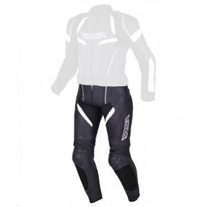 Damskie skórzane spodnie motocyklowe RSA Speedway czarno-białe