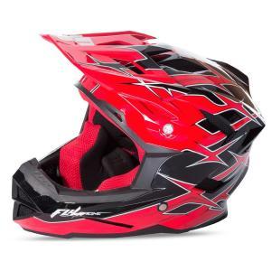 Motocrossowy kask FLY Racing DEFAULT - USA czarno-czerwony