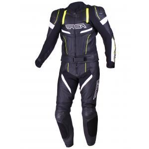 Kombinezon motocyklowy RSA Speedway czarno-biało-fluo żółty