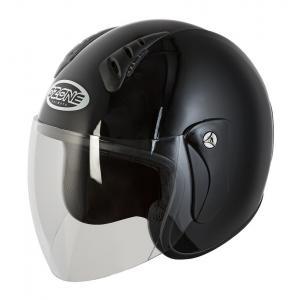 Otwarty kask motocyklowy Ozone HY-818 czarny połysk