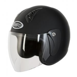 Otwarty kask motocyklowy Ozone HY-818 czarny matowy